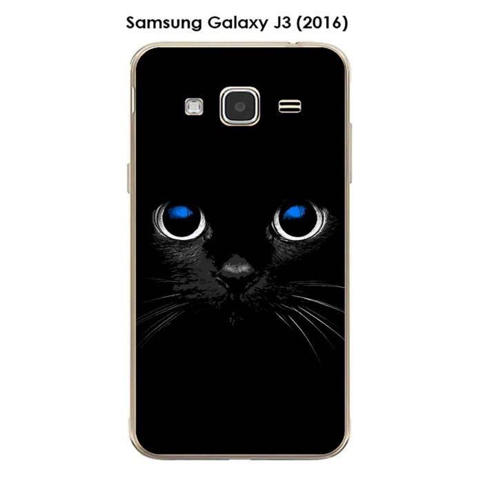 Coque Samsung Galaxy J3 (2016) design Chat noir