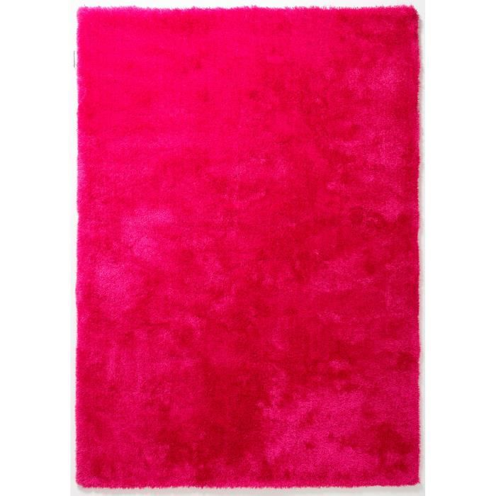tapis shaggy a poils long colourcourage framboise 140x200. Black Bedroom Furniture Sets. Home Design Ideas