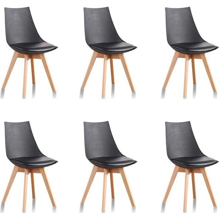 chaises scandinave par 6 achat vente chaises scandinave par 6 pas cher cdiscount. Black Bedroom Furniture Sets. Home Design Ideas