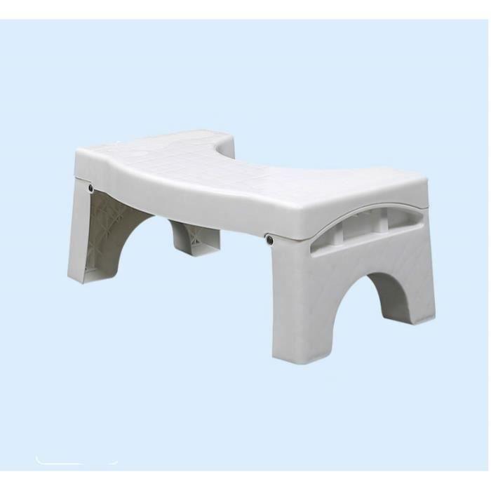 ONE STEP tabouret en métal blanc en caoutchouc anti-dérapant Tapis de roulement compact cuisine salle de bain