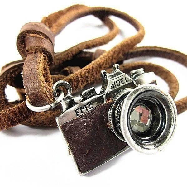 PENDENTIF VENDU SEUL Retro Camera Pendentif En Cuir Pour Homme-87191788