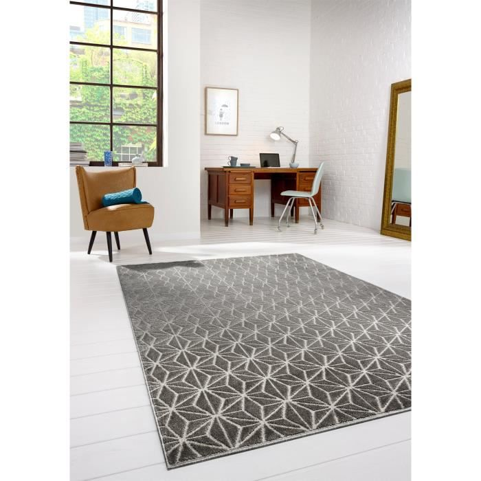 benuta tapis diamond gris 140x200 cm achat vente tapis cdiscount. Black Bedroom Furniture Sets. Home Design Ideas