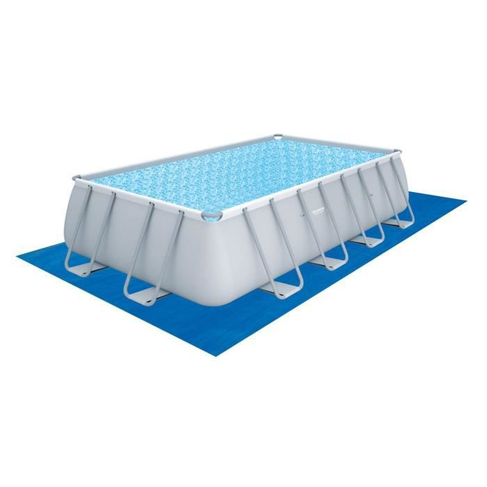 Bestway kit piscine tubulaire rectangulaire power steel frame 488x274x122 ave - Piscine autoportee bestway ...