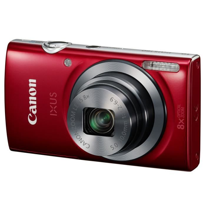 APPAREIL PHOTO COMPACT CANON IXUS 160 rouge - CCD 20 Mpixels Zoom 8x Appa