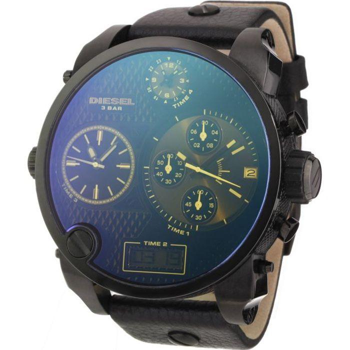 montre diesel bracelet cuir homme