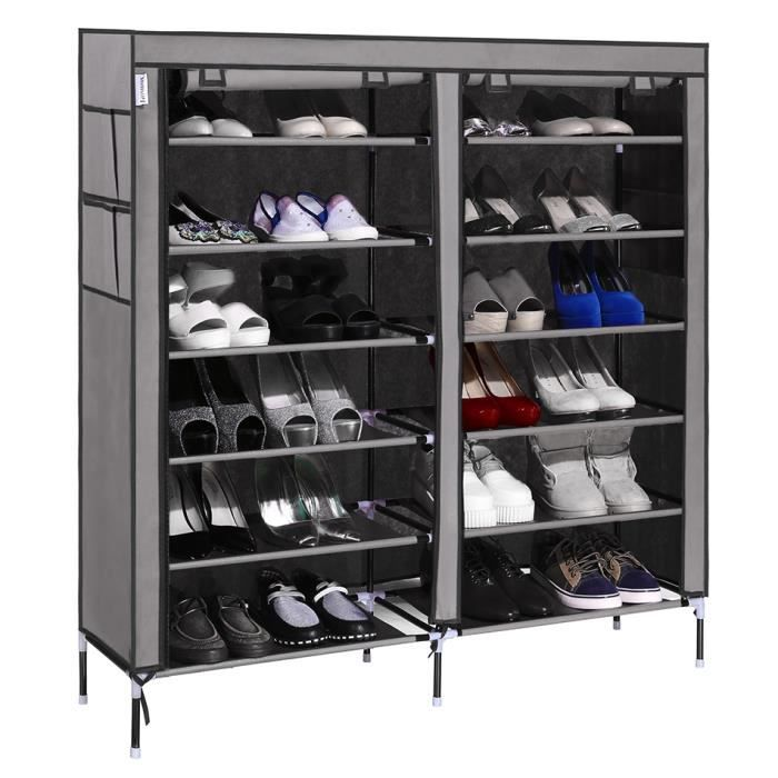 6 couche 12 grille tag re chaussures range placard. Black Bedroom Furniture Sets. Home Design Ideas