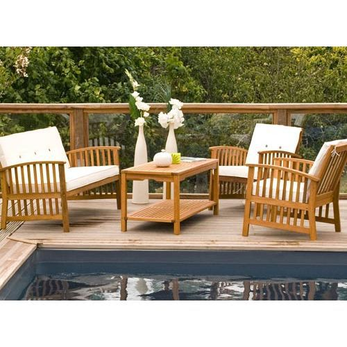 salon de jardin eucalyptus coffee set casablanca achat. Black Bedroom Furniture Sets. Home Design Ideas