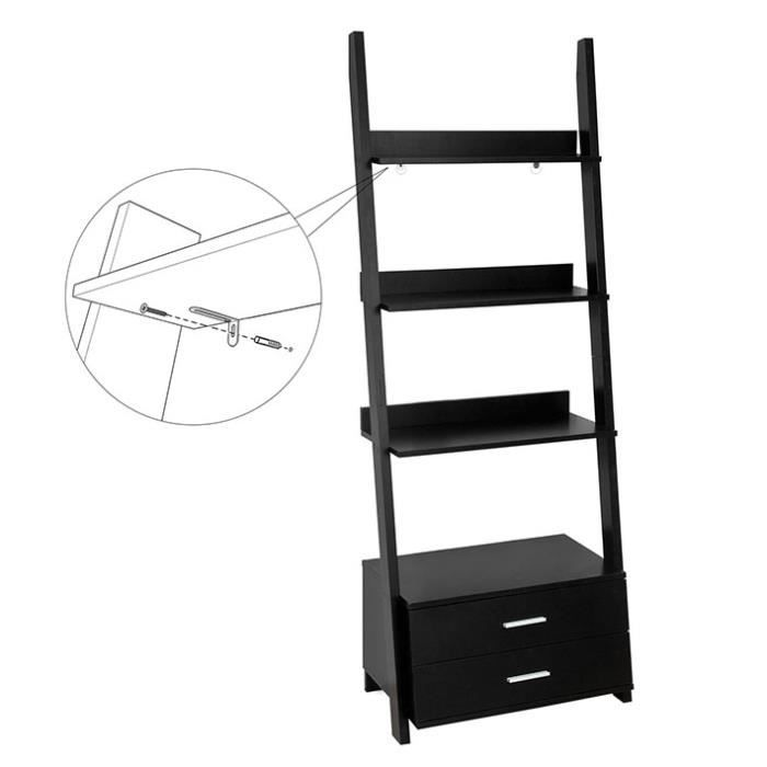 Sobuy frg230 sch tag re style chelle biblioth que for Etagere echelle cuisine