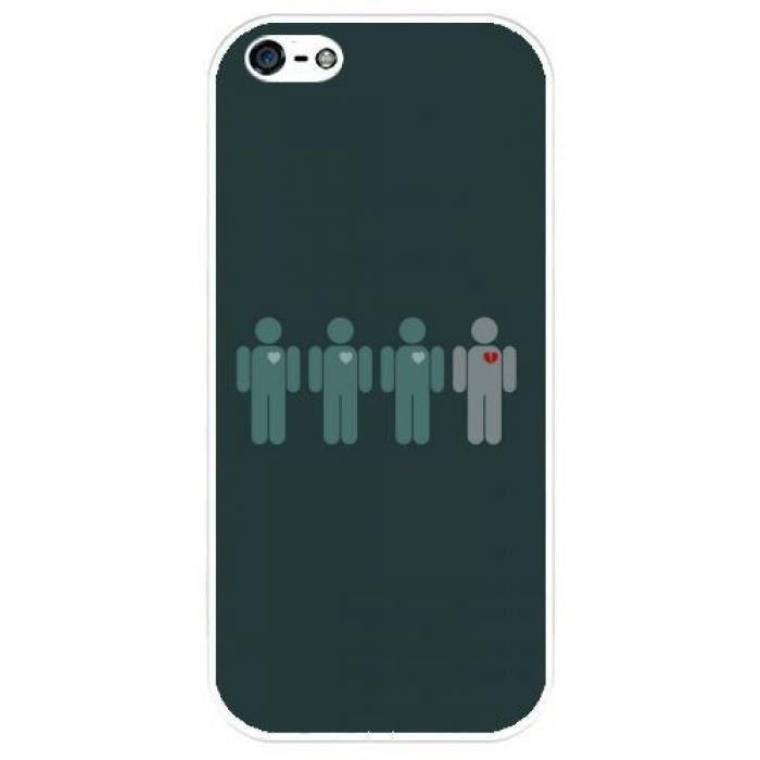 Coque Iphone 5-5S - En couple - Célibataire - 1102 - Achat coque ...