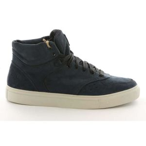 Baskets Montantes En Cuir Et Toile Diesel Mr Happy Freak Homme Bleu F5Ht29IiAA