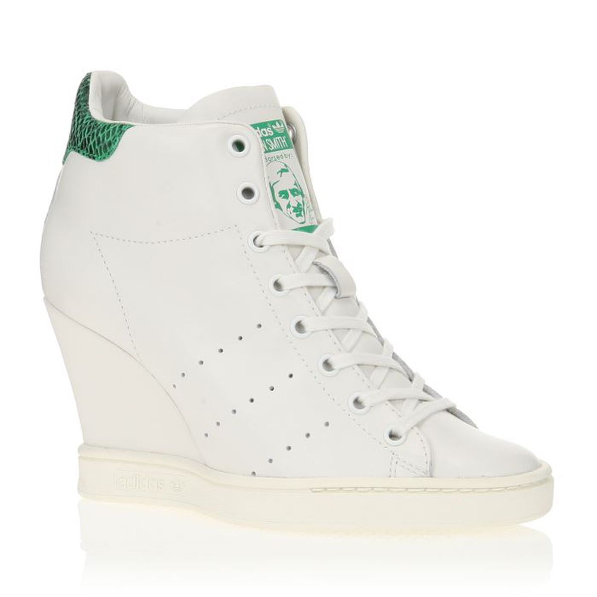 adidas originals baskets stan smith up ef w femme femme blanc et vert achat vente adidas. Black Bedroom Furniture Sets. Home Design Ideas