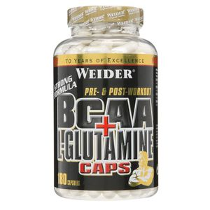 ACIDES AMINÉS WEIDER BCAA + L Glutamine Muscle recovery 180 NTT