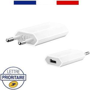 CHARGEUR TÉLÉPHONE PRISE CHARGEUR ADAPTATEUR SECTEUR USB POUR APPLE I