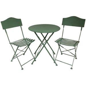 SALON DE JARDIN  Salon de Jardin Bistrot Chaise Table de Jardin en