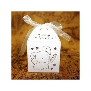 BOÎTE À DRAGÉES 50pcs Boîte à Dragée Mariage(Blanc) H05FD9