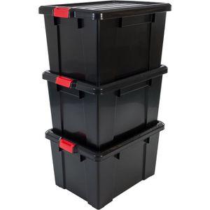BAC DE RANGEMENT OUTILS IRIS OHYAMA Lot de 3 boîtes de rangement avec ferm