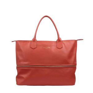 SAC À MAIN LONGCHAMP - sac femme porté main en cuir - CORAIL