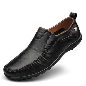 MOCASSIN chaussure homme en cuir plates De Marque De Luxe e