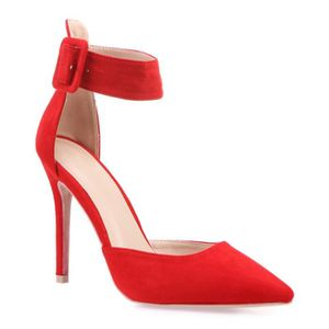 ESCARPIN Stilettos rouges avec bride-36