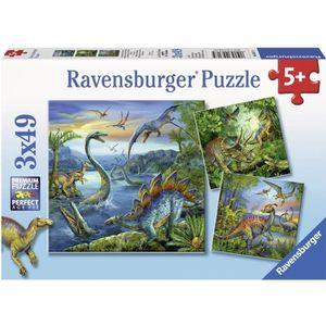 PUZZLE Puzzle 3x49 pcs Fascination Des Dinosaures