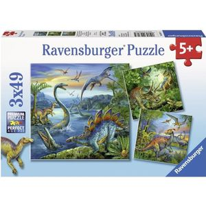 PUZZLE Puzzle 3x49 pcs Fascination Des Dinosaures