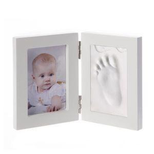 B/éb/é 3D Kit de moulage de pl/âtre empreinte empreintes avec cadre blanc photo Album photo