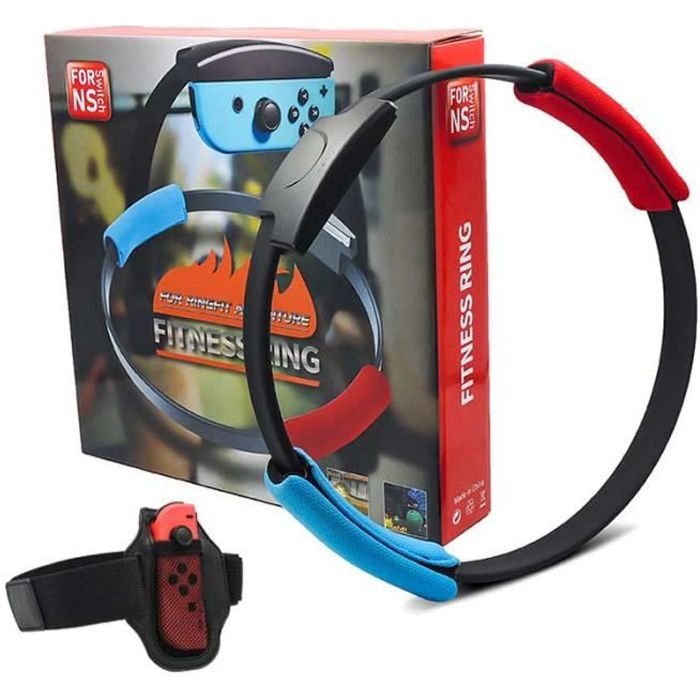 Game Fitness Ring pour NS-Switch, Adventure NS Ring Fit Somatosensory Sports Game Yoga Fitness Ring + Leg Sangles