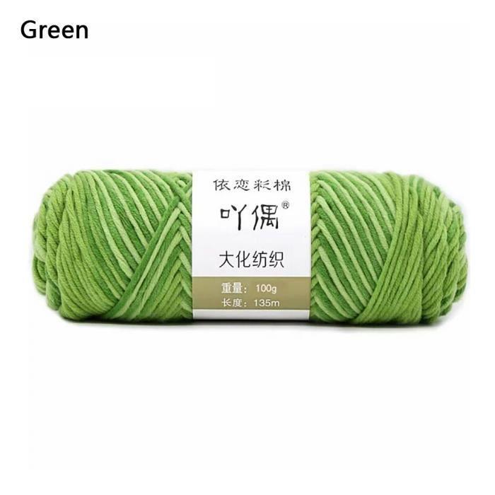 100g barre de fil de coton de lait couture main bricolage écharpe ligne ménage chaudFWT90902003GN