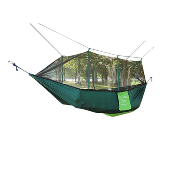 Hamac de parachute de 2 personnes double plein extérieur solide terrasse Patio Yard Camping GN_LY * 247
