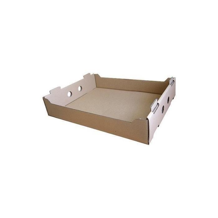 Caisses traiteurs en carton kraft brun, de dimensions 37x30x7 cm.Résistantes et pratiques, ces caisses sont prévues pour le