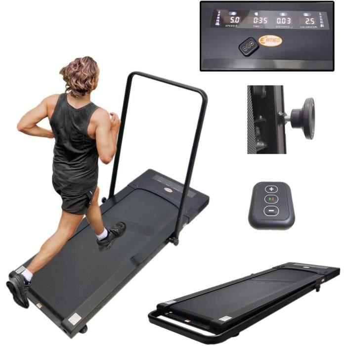 Tapis de Course Slim FFitness 12 kH-h 2,5 Fitness électrique Pliable, Bureau, Gain de Place, pour Maison, Salle de Sport, Noi A45