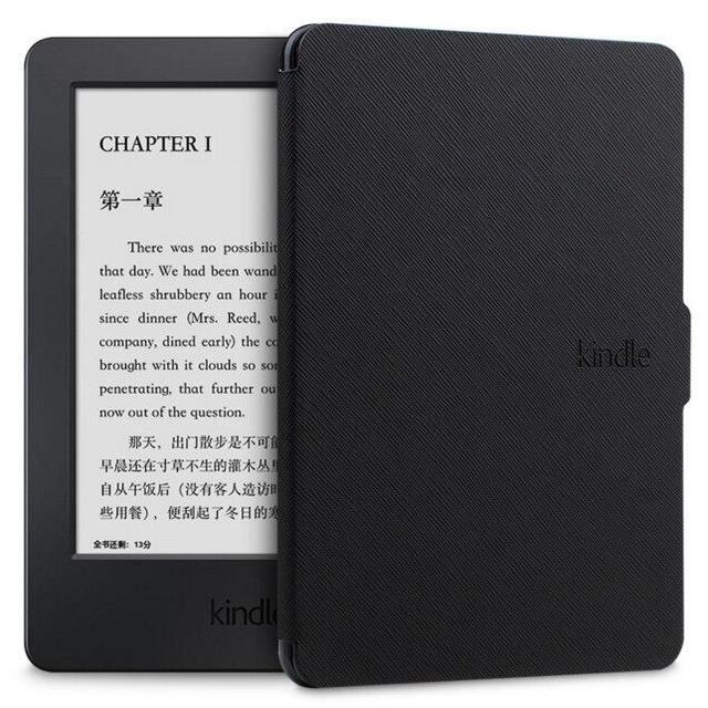 Pour capa amazon kindle paperwhite 1-2-3 housse étui Ultra mince pour tablette 6 pouces coque avec sommeil~Black*CL7744