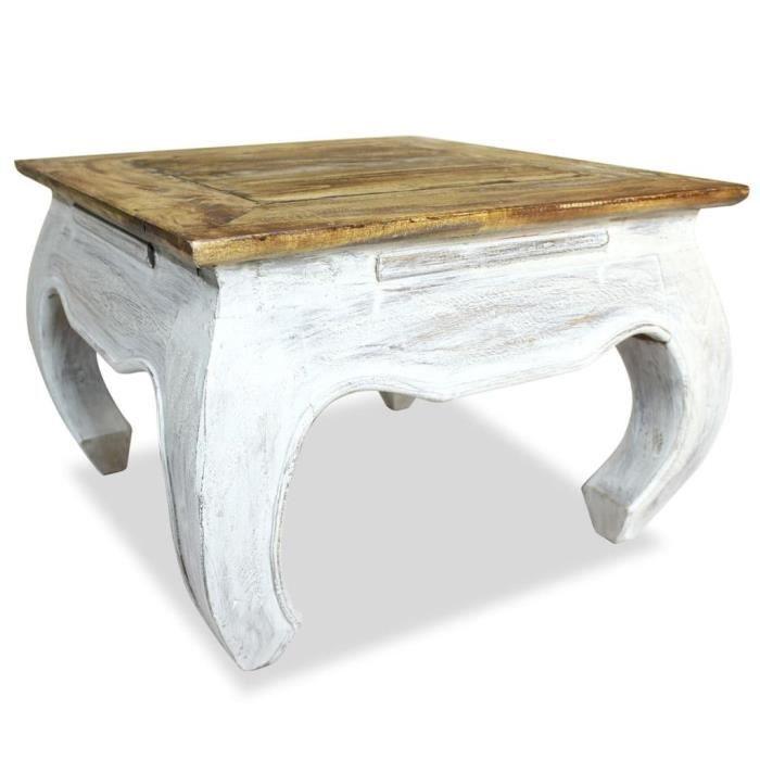 ����9334Magnifiqu Luxueuse - Table d'appoint table Basse de Salon Bouts de canapé Style Contemporain Scandinave- Bois de récupératio