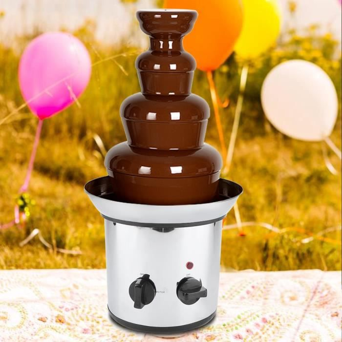 FONTAINE A CHOCOLAT 4 niveaux machine de fusion de chocolat -prise UE 220V -ZOO