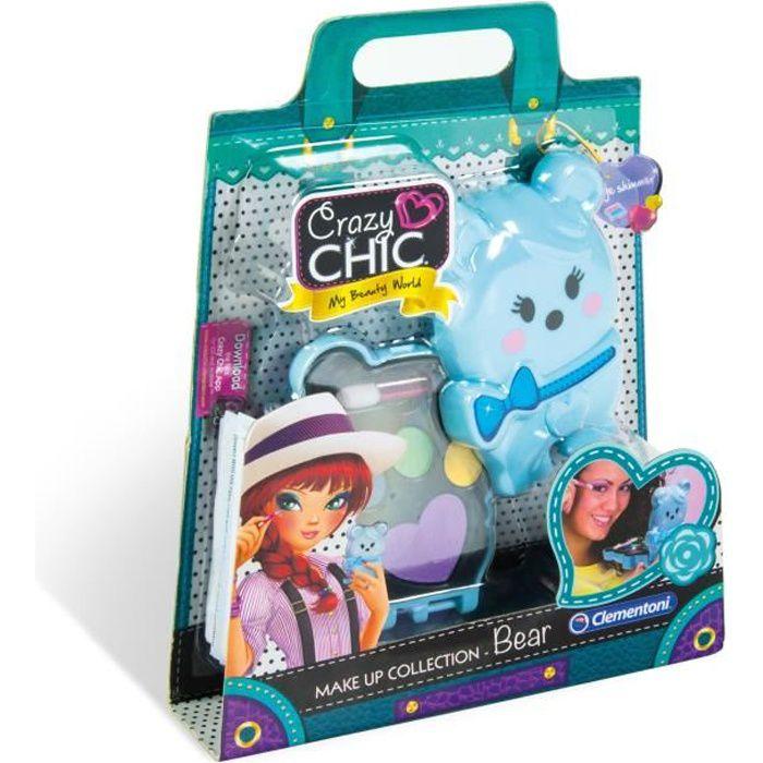 CLEMENTONI Crazy Chic - Mini palette de Maquillage Enfant - Modèle Ours