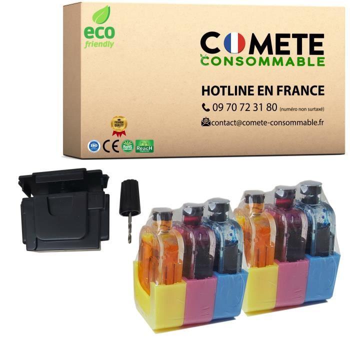 1 Kit Recharge Encre COULEURS Premium HP301 301 301XL HP302 HP 302 302XL HP304 HP 304 304XL pour HP DeskJet OfficeJet Envy - Comète