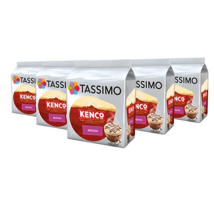 TASSIMO Kenco Mocha café, T-Discs Capsules, dosettes à café souples, 5 paquets de 8 (40 Boissons)