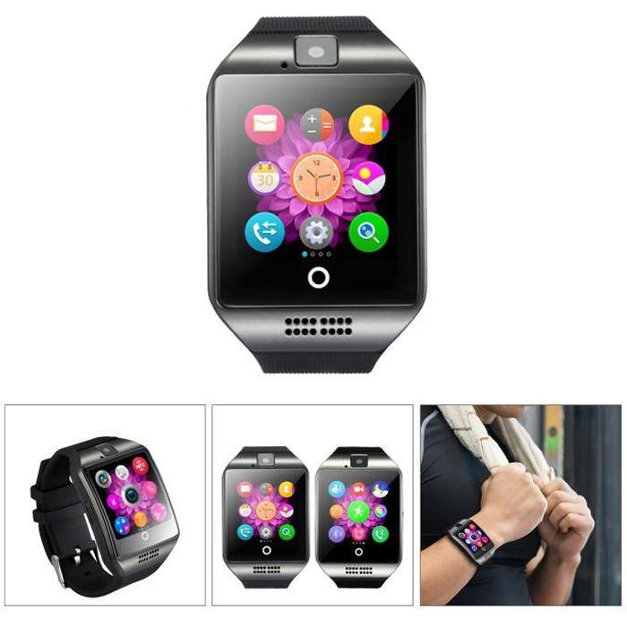 Montre intelligente Bluetooth Smart Watch Q18 avec appareil photo Smartwatch Soutien SIM TF Carte à Distance Caméra