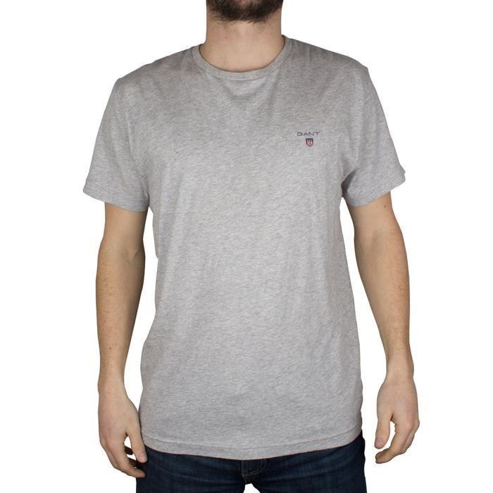 Gant Homme T-shirt solide, Gris