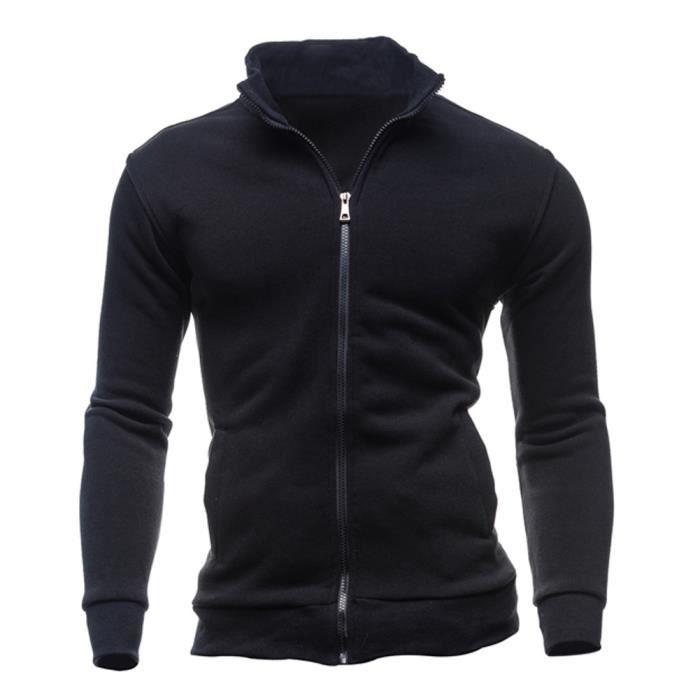 Sweat-shirts Survetement de sport pour les hommes - Noir XL