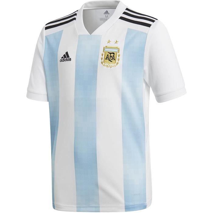 Maillot Argentine Domicile Enfant Adidas Football Bleu et blanc
