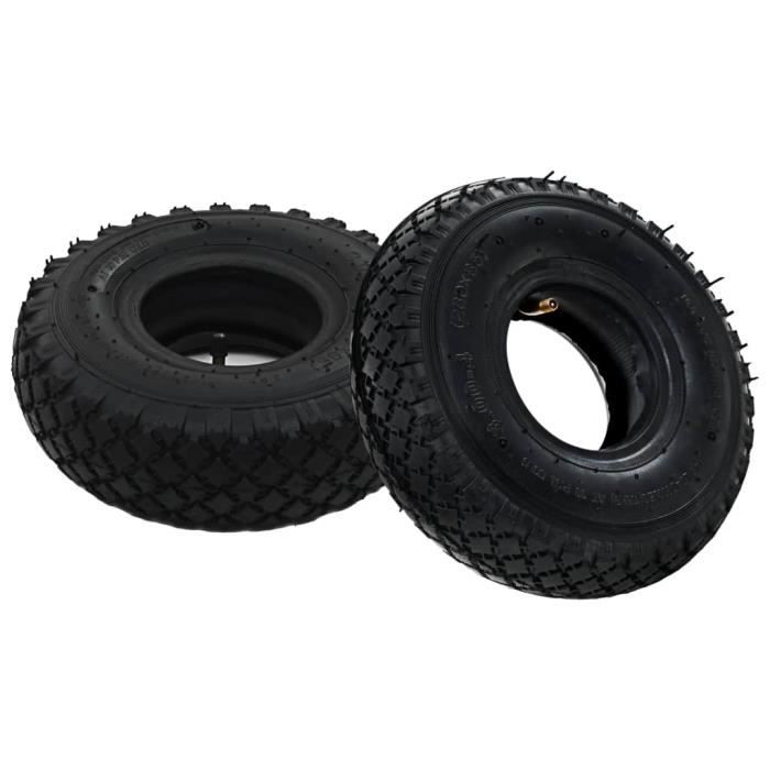 2 pneus 2 chambres à air 3.00-4 260x85 pour roue de diable