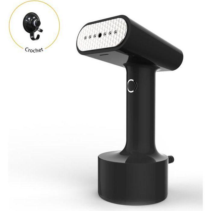 STEAMONE - ST200GB - Défroisseur vapeur portatif Noir- 1500W - 25g par minute - Prêt en 30 scd - 140 ml