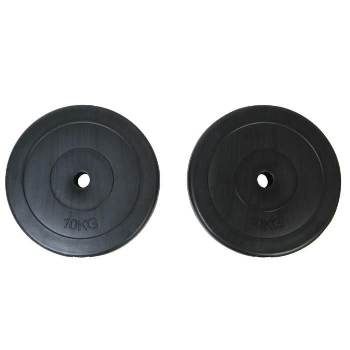 Plaques de poids 2 x 10 kg Noir