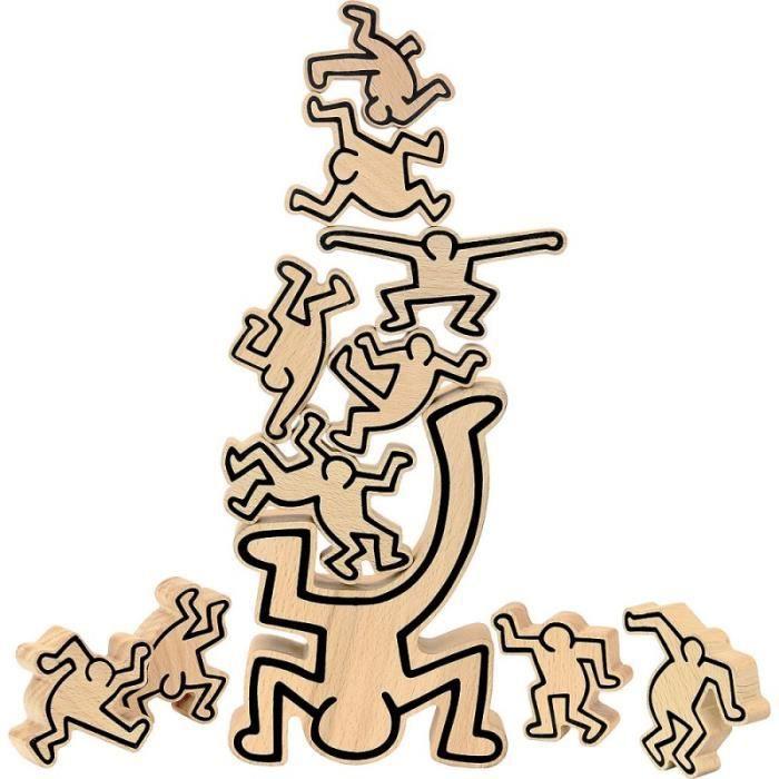 Jeux de société enfants - Jeu d'équilibre Keith Haring - Vilac - Jeux et jouets