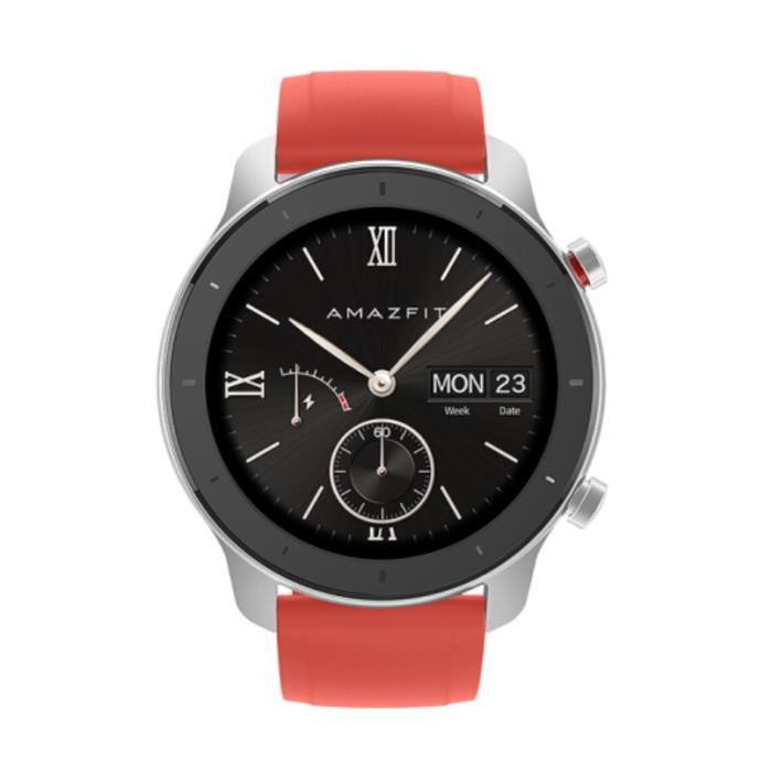 Amazfit GTR XIAOMI-Montre Connectée-Montre GPS-Montre Contactée Femme-42mm-Ecran Grand-Coloris :Rouge meilleur cadeau pour homme