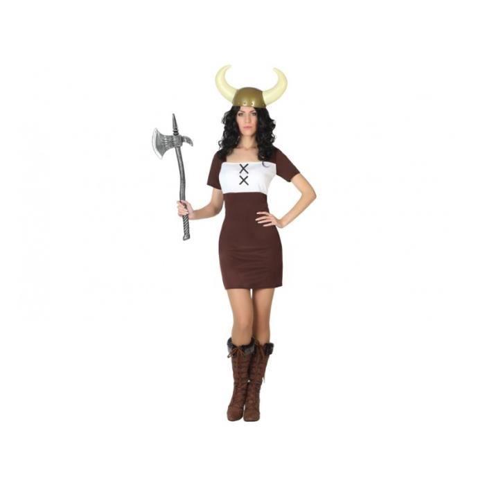 DÉGUISEMENT - PANOPLIE Costume Adulte Femme Viking Taille M/L