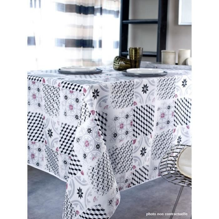 nappe tissu rectangle 150x200 cm carreaux ciment achat. Black Bedroom Furniture Sets. Home Design Ideas
