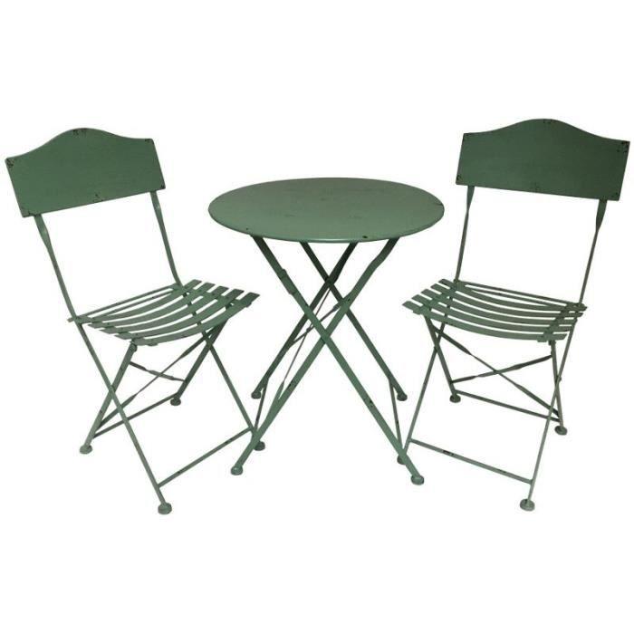Salon De Jardin Bistrot Chaise Table De Jardin En Fer Pliable 10457 10461 Achat Vente Ensemble Table Et Chaise De Jardin Salon De Jardin Bistrot Chaise Cdiscount