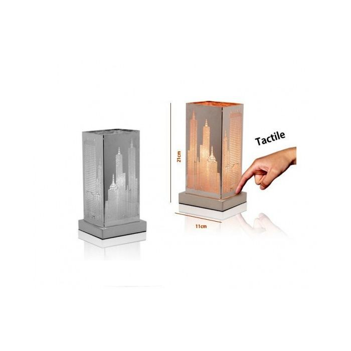 Lampe tactile new york 3 intensit s de lumi re achat vente lampe a pose - Lampe de bureau new york ...
